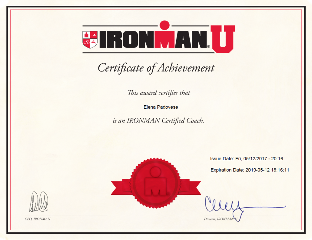 IRONMAN coach certificato - Elena Padovese
